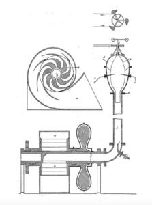 ヴィクトル=シャウベルガーのトラウトタービン設計図